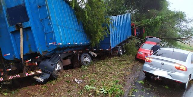 Morador de Roncador sofre acidente de caminhão entre Roncador e Iretama