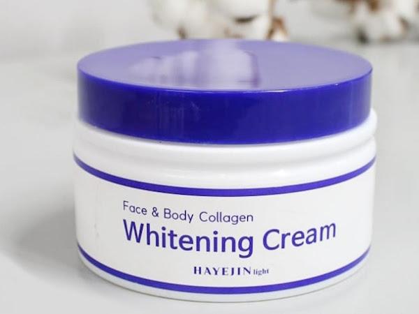 Rekomendasi Whitening Cream Korea Aman dan Natural [Review : Hayejin Light Collagen Whitening Cream]