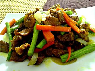 Resepi Mudah Daging Goreng Kunyit Kelantan Style