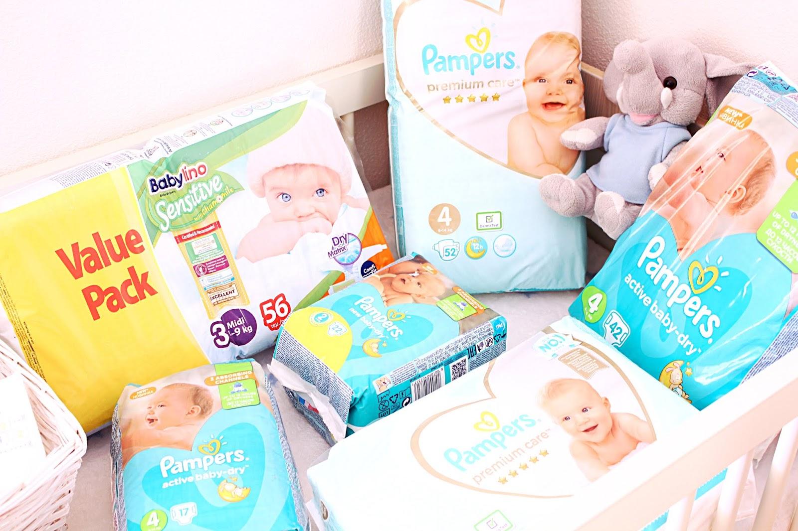 koliko pelena treba novorodjencetu/bebi prva 3 meseca; Pampers premium care Babylino sensitive Agnotis