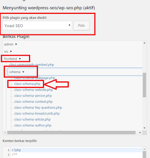 langkah menghapus struktur data plugins yoast