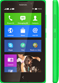 Nokia XL front green color