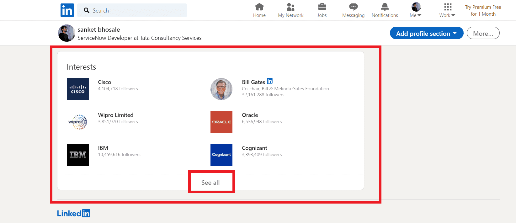 How to Add, Edit or Remove interests on LinkedIn