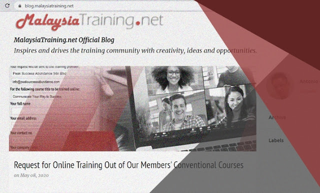 MalaysiaTraining.net New Blog Banner