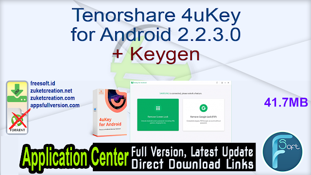 Tenorshare 4uKey for Android 2.2.3.0 + Keygen