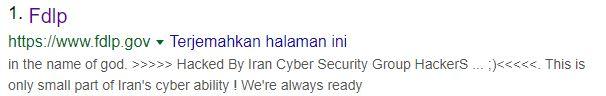 Situs Pemerintah Amerika Serikat Dalam Pencarian Google.