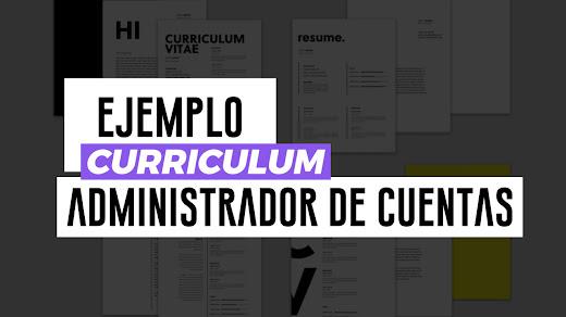 ejemplo curriculum administrador de cuentas