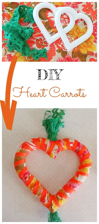 DIY Heart Carrots