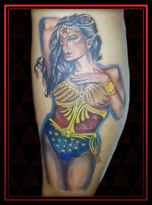 b9c7eefb4 There are many ideas for Wonder Woman tattoos because she has many outfits  and looks to choose from. She would look stunning in color!