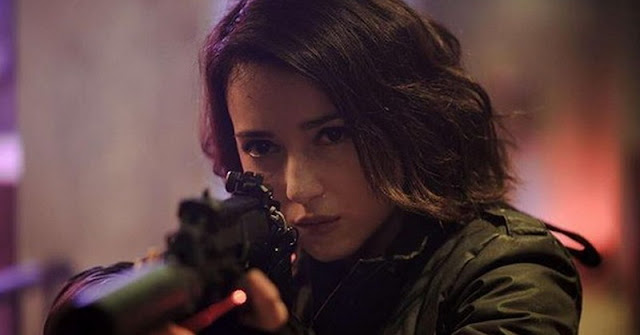 Julie Estel as The Operator on The Night Comes for Us 2018 Movie