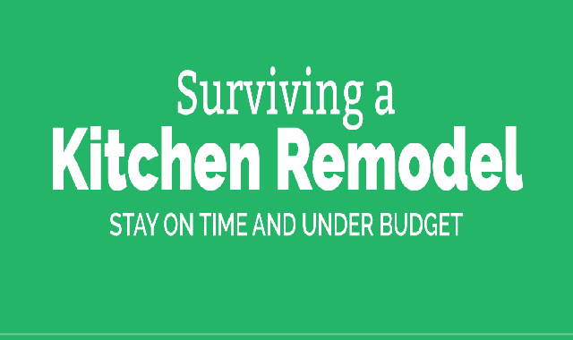Surviving A Kitchen Remodel: Stay On Time & Under Budget #infographic,kitchen remodel, kitchen remodel ideas, ideas to remodel kitchen, ideas for kitchen remodel