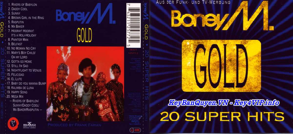 20 bài hát nhạc FLAC hay nhất của nhóm Boney M.