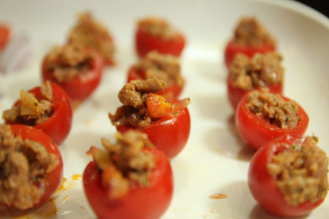 Stuffed Cherry Tomatoes à la Bonne Femme Recipe. Gluten-free