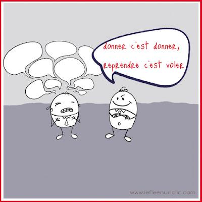 donner c'est donner, proverbe, expression, expressions en français, FLE, le FLE en un 'clic'