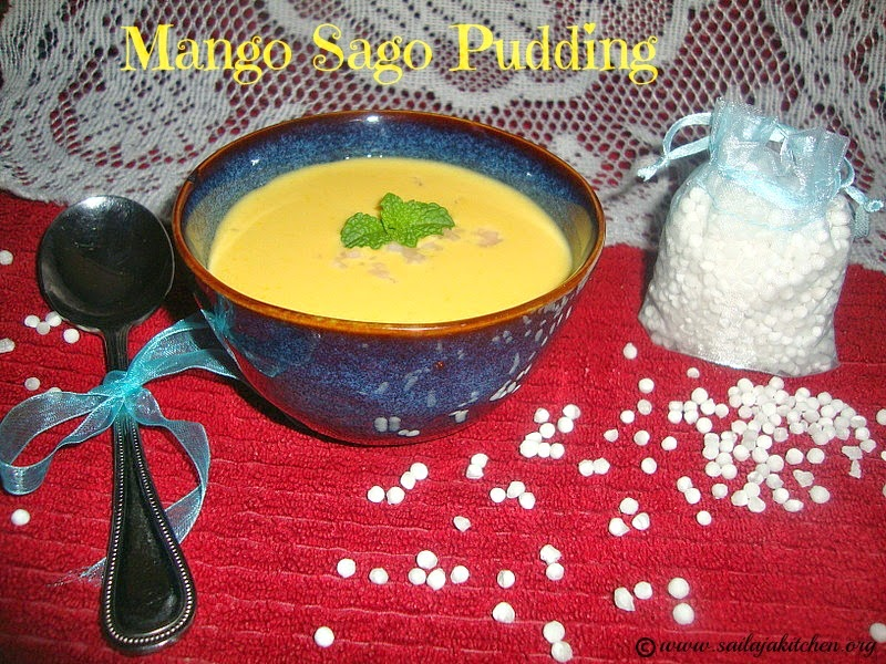 images for Mango Sago Pudding / Mango Sago Recipe