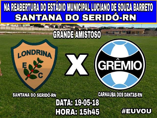 Hoje tem amistoso de reabertura do Luciano de Souza Barreto em Santana do  Seridó 48b4ecba7368f
