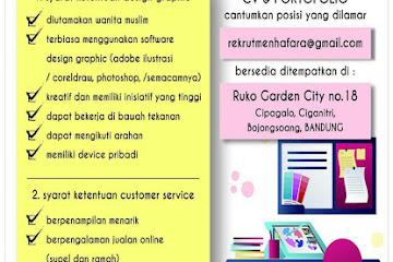 Lowongan Kerja Design Graphic & Customer Service Glumory