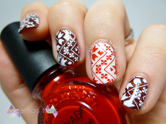 Nail Art Estampado Navideño Konad. Hagamos Nails