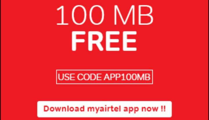 Recharge Tricks: GET FREE 100 MB EXTRA DATA ON MY AIRTEL APP