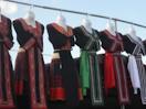 Hmong dresses hanging at Hmong New Year