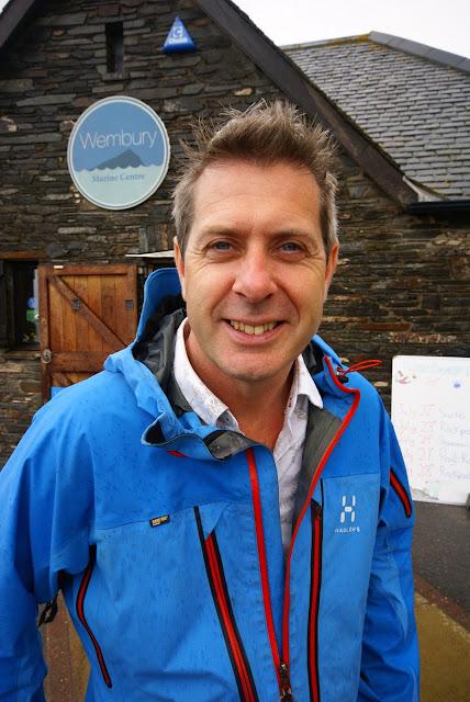 Prof Iain Stewart, Devon Wildlife Trust's new President, at Wembury Marine Centre, near Plymouth