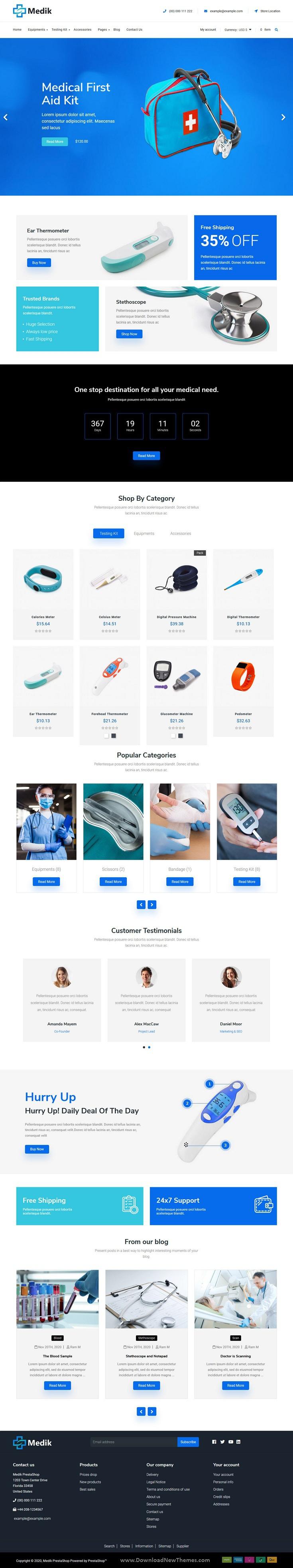 Medical PrestaShop Theme