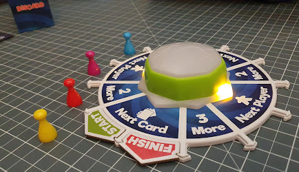 Spintensity 5 Second Rule gameplay spinner lit up next player