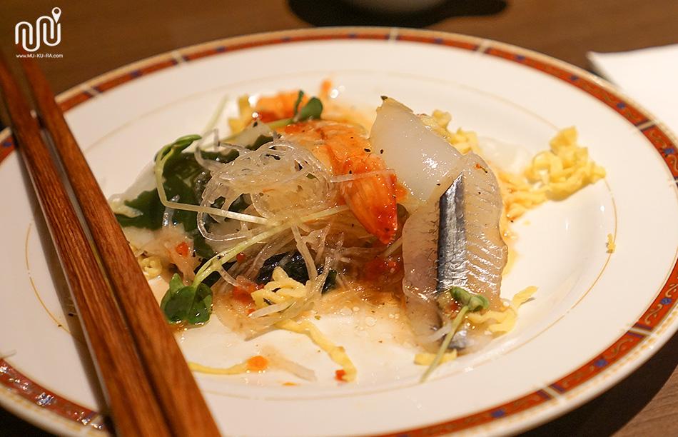อาหารค่ำ Takaragawa onsen