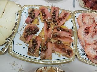 Canape De Naranja Y Salmón Con Salsa Agridulce