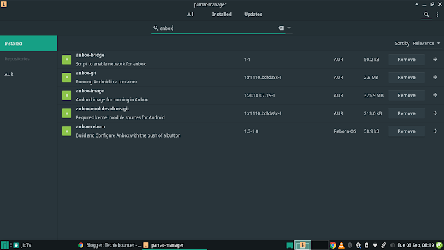 Installing Anbox with Google play store on Arch Linux made easy