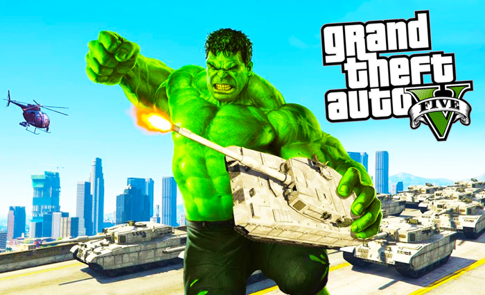 GTA 5 HULK SuperHero Mod-V3 / Terrorize The City!