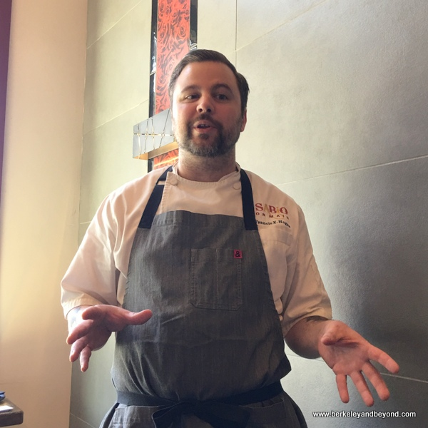 Chef Francis X. Hogan at Sabio on Main in Pleasanton, California