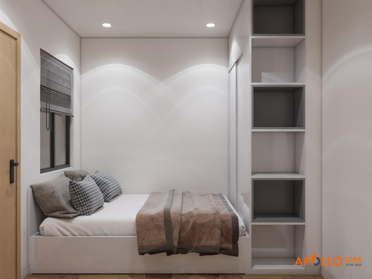 Thiết kế nội thất căn hộ 55m2 (2PN+1) Vinhomes Smart City
