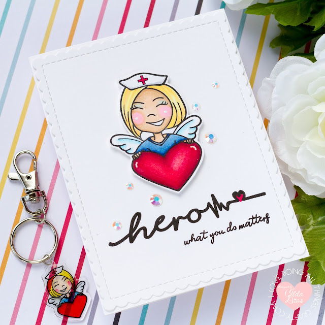 Superheros Wear Scrubs Thank You Cards and DIY Key Chains | Erin Lee Creative