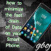 how to minimize the fast drain of Data on your Smart Phone.