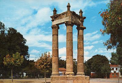 Ciudad Rodrigo, postal, tres columnas