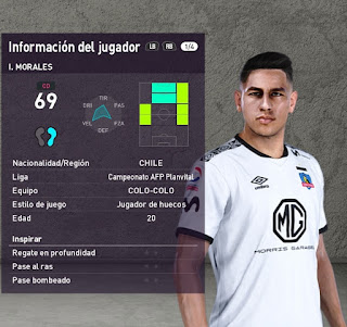 PES 2020 Faces Iván Morales by Rydimir