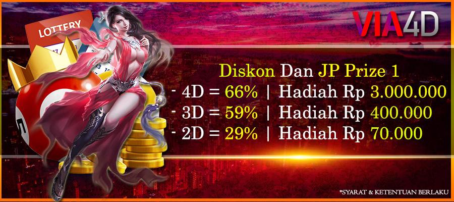 Via4D - Diskon Togel Terbessar dan JP Hadian Prize 1