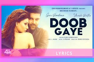 डूब गए Doob Gaye Lyrics and Karaoke by Guru Randhawa and Urvashi Rautela