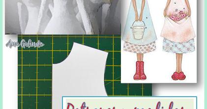 Cómo vestir con matemáticas y arte: Patrones y medidas. La muñeca Tilda.