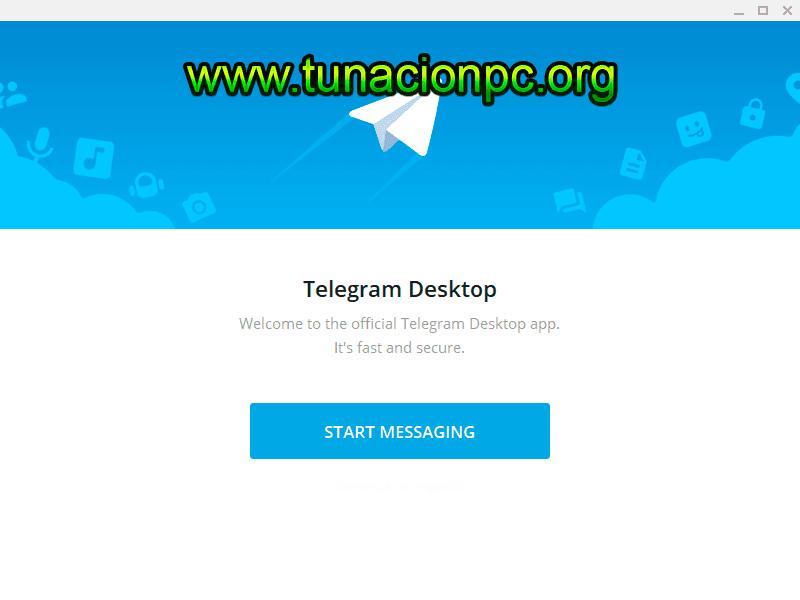 Telegram Desktop mas portable