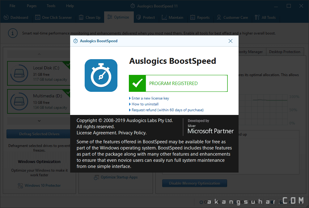 Gratis Download Auslogics BoostSpeed Full Crack Terbaru