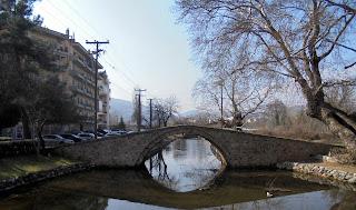 το βυζαντινό γεφύρι (κιουπρί) στην Έδεσσα