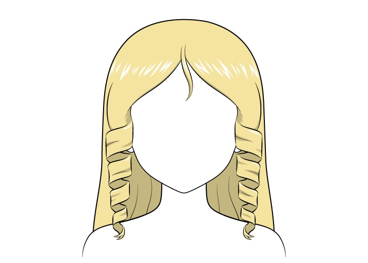 Gambar rambut keriting anime