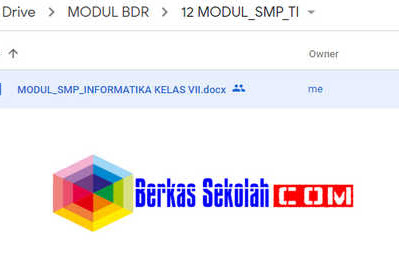 Modul BDR Informatika Kelas 7 8 9 SMP/MTs Semester 1