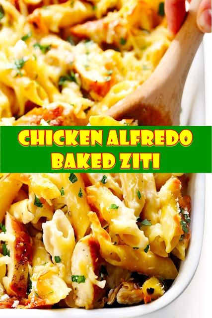 #Chicken #Alfredo #Baked #Ziti