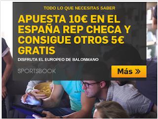 betfair apuesta en el España vs Republica Checa y 5 euros gratis 13 enero