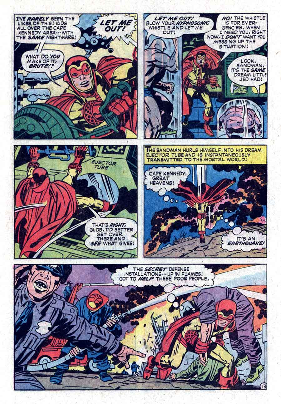 The Sandman v1 # dc bronze age comic book page art by Jack Kirby