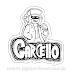 Garcello fnf mod character graffiti Sticker para Colorir