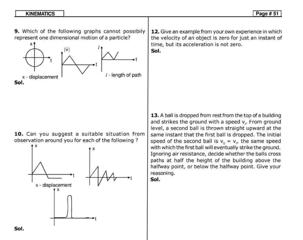 Kinematics study material pdf